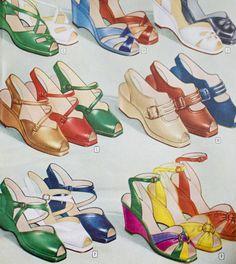 Vintage shoes galore.