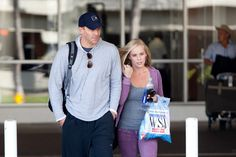 Jaime Bergman David Boreanaz and his wife Jaime Bergman arrive at LAX (Los Angeles International Airport).