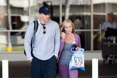 Jaime Bergman David Boreanaz and his wife Jaime Bergman arrive at LAX (Los Angeles International Airport).