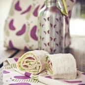 """Here's a lunch recipe that your kids can prepare themselves! With adult supervision, of course. """"Turkey Wrap with Lemony Hummus and Cheese"""" #healthy #lunch #recipes"""
