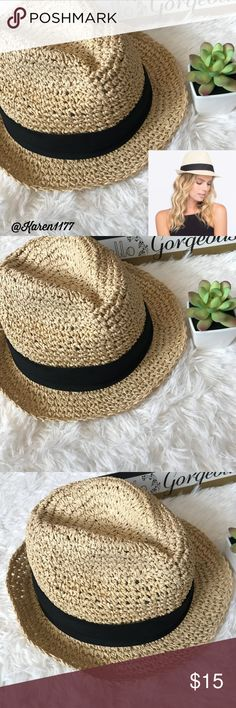 25de9e77584e0 Just In🌸 Woman s Natural Braided Braided Fedora🌸 New Tilly s One Size  Natural Braided straw Fedora. Great for Spring   Beach days!