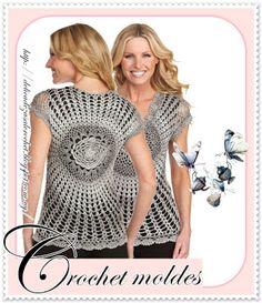 Delicadezas en crochet Gabriela: Blusas diseño circular