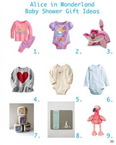 Alice in Wonderland Baby Shower gift ideas