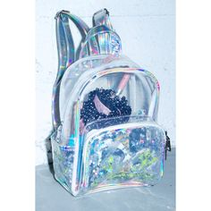 Transparent Clear School Bag See-thru Backpack Casual Daypack ...