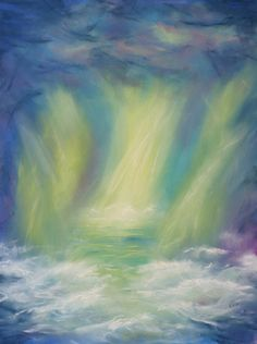 """""""Tempest"""" Abstract pastel painting by Rebecca Prough."""