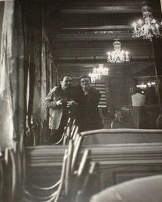 Selfie with James Dean! Roy Schatt and Jimmy during a shoot.