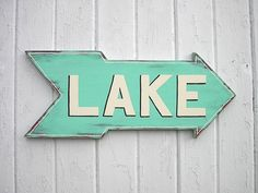 Wood Distressed Sign Lake Sign Decor by CTheWritingOnTheWall, $38.00