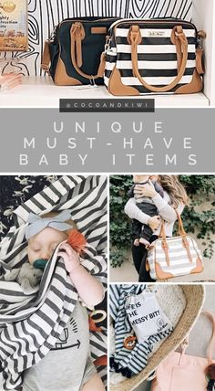 Unique must have baby items. Baby registry must-haves / baby shower gift ideas. The best diaper bags / diaper backpacks for mom. #babyshower #babylist #babystuff #motherhood
