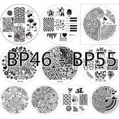 $19.99 10pcs BORN PRETTY 46- 55 Nail Art Stamp Template Image Plates - BornPrettyStore.com