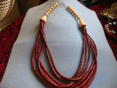 Absolutely beautiful wooden  vintage  beaded necklace by AprilSnow, $18.50