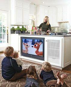 kinder fernsehen Küchen mit Kochinsel küchenblock freistehend fernsehen