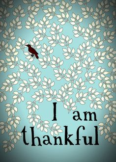 I am thankful print by shoplovelay on Etsy on we heart it / visual bookmark #18219755