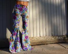 Stretch Crochet Lace Flow Pants  Bell Bottoms/Flow/Wide leg/Hooping/Festival/Beach/Boho/Summer/Movement/Stretch