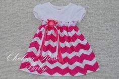 Gorgeous Chevron Baby and Toddler Dress Baby por ChelseaRoseBaby, $33,00