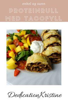 En supergod proteinrull med tacofyll som er enkel å lage og smaker herlig i sommervarmen | Sunn middag | Sunne oppskrifter | Hverdagsinspirasjon | Taco oppskrift | Lavkarbo oppskrifter