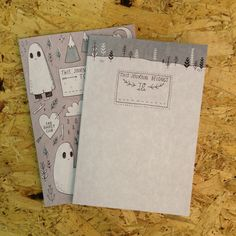 We LOVE The Sad Ghost Club... check them out here: http://thesadghostclub.tumblr.com - awesome notebooks ahoy!
