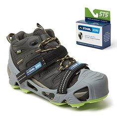 STABILicers HIKE XP Made in USA High Performance Snow and Ice Traction Cleats for Shoes and Boots 25 Replacement Cleats Included GrayGreen Size LG -- You can find out more details at the link of the image.
