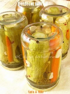 Pickled zucchini colors on your plate ~ Zucchini Pickles, Pickled Zucchini, My Recipes, Cooking Recipes, Canning Pickles, Jacque Pepin, Pickling Cucumbers, Romanian Food, Interior Design Living Room