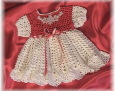 Crochet Pattern Baby Dress... Morgan Jo Baby por littlebuddydolls