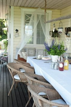 Vicky's Home: Summer Feeling / Summer Feeling Decor, Garden Room, Interior, Home, Outdoor Rooms, Decks And Porches, Summer House, Outdoor Retreat, Porch And Balcony