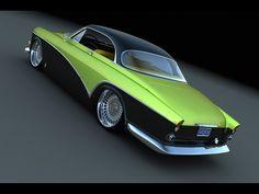 1966 Volvo custom coupe - rendering