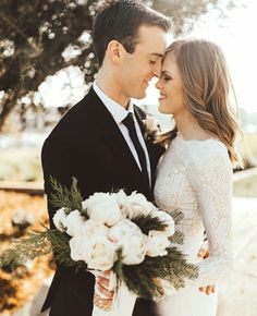 modest wedding dress with long lace sleeves from alta moda. (modest bridal gowns). photo by lexie mcrae