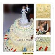 Jitka a Harry, svatební dort,