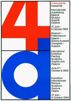 "typo-graphic-work: ""documenta 4, 1968, Oskar Blase """