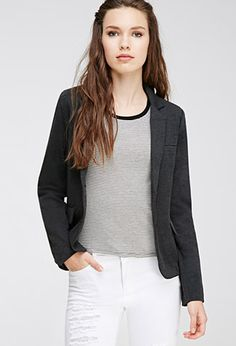 Heathered Two-Button Blazer | Forever 21 - 2000058296