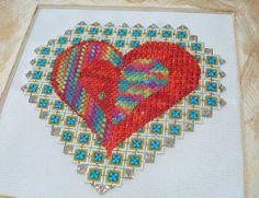 Holographic heart needlepoint | Flickr - Photo Sharing!