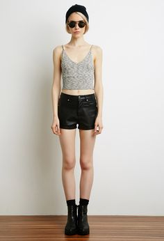 Marled Knit Crop Top | Forever 21 - 2000130660