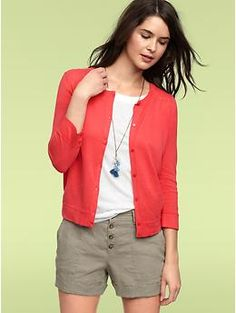 Gap Gathered Crewneck Sweater, $32. Great basic in a fun color for spring!