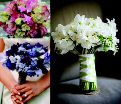 Sweet #pea #bouquets Might can use those dark, rich blues from the bottom left one for the navy color in mine!