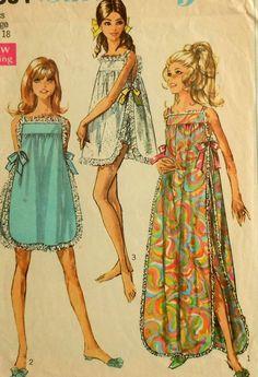 Vintage Nightgown Sewing Pattern-It'll make me feel like Audrey Hepburn :D