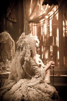 Helena Bonham Carter as Miss Havisham in the 2012 version of Great Expectations!