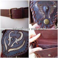 Indian Style Leather 3pocket Bag