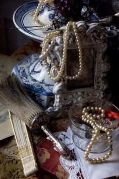 Bedside table, Dennis Severs' house, Spitalfields, London