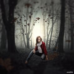 alone in a scary forest by mastadeath.deviantart.com on @DeviantArt