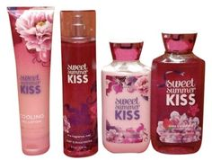 perfume and lotion gift set: new! 2014 Bath and Body Works Sweet Summer Kiss gift set $30 free shipping