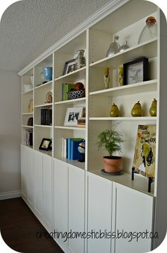 creating domestic bliss - billy ikea bookcase