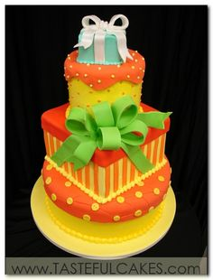 Google Image Result for http://tastefulcakes.com/tastefullcakes/images/pg-10-number-20-three-tier-birthday-cake-quincinera-tiffany-box-on-round-and-square-gifts-yellow-red-and-orange-green-bow.jpg