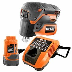 Ridgid R8224K 12-Volt Lithium-Ion 1/4 in. Cordless Palm Impact Screwdriver Kit With Battery & Charger. Comes with Battery and Charger. Battery charge can be easily monitored using the tool's battery fuel gauge. Hex grip micro texture for enhanced user comfort. Push-To-Drive Technology allows for a pressure sensitive variable speed switch to control speed while eliminating the need for a trigger. Bit changing is made easier and quicker with a one handed quick-load collet.