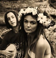 I love flower headbands....and white girl dreads