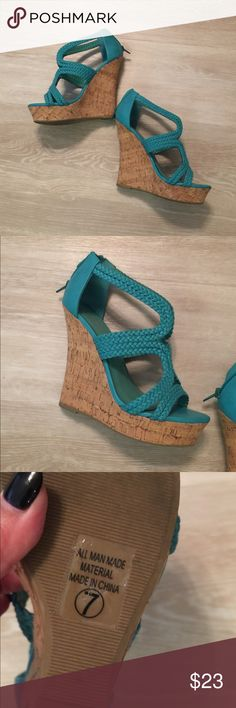 🌹Tiffany Blue Wedges 🌹 Brand new! Charlotte Russe Shoes Wedges