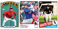 Here are all 10 Topps cards commemorating Will Ferrell's epic 10-team day at Spring Training