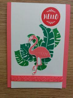 Pink Flamingo - Pop of Paradise - Flirty Flamingo - Het Knutsellab - Stampin Up #stampinup #crafts #knutselen #stempelen