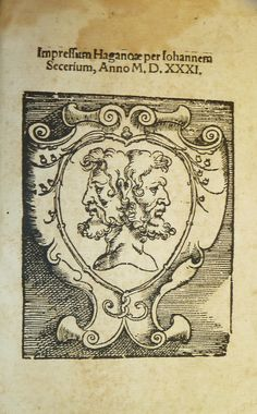 Woodcut printer's device of Johann Setzer of Haguenau.