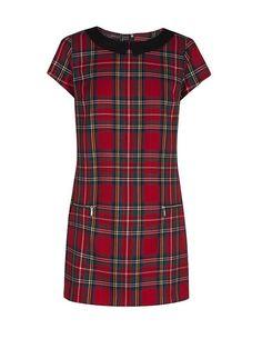 SuiteBlanco- Vestido trapecio cuadros escoceses