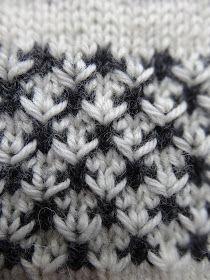 Jeg lovede at lægge en beskrivelse af dette mønster ind på bloggen. Og her kommer den så. Tofarvet blomstermønster : (delbart med 4 +...