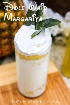 Bring back the Disneyland Dole Whip from your youth and give it an adult twist with this delicious Dole Whip Margarita! (disney alcoholic drinks)